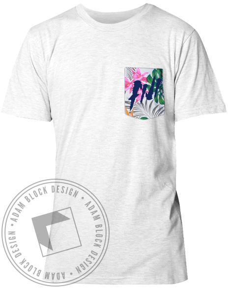 Phi Gamma Delta Fiji Tropical Custom Pocket Tee-Adam Block Design