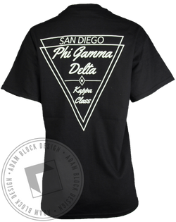 Phi Gamma Delta Star Pocket Tee-Adam Block Design