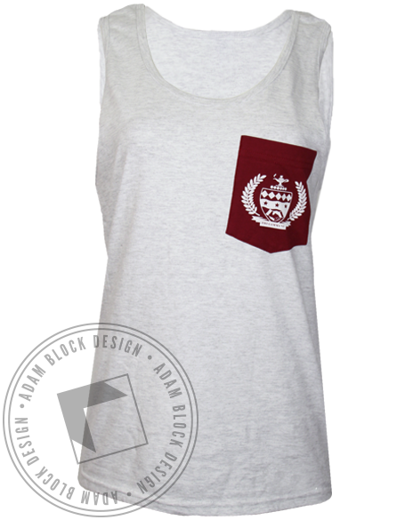 Phi Gamma Nu Pocket Crest Custom Pocket Tank-gallery-Adam Block Design