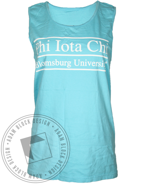 Phi Iota Chi Line Tank Top-Adam Block Design