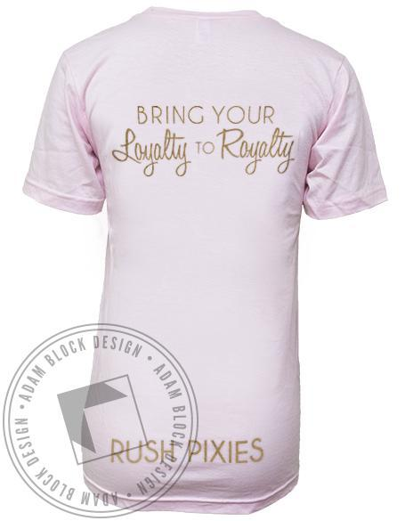 Phi Iota Chi Loyalty to Royalty Pixies V-neck-Adam Block Design