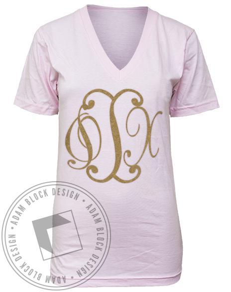 Phi Iota Chi Loyalty to Royalty Pixies V-neck-gallery-Adam Block Design