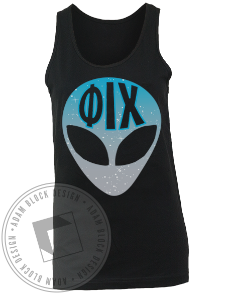 Phi Iota Chi Out of This World Tank Top-Adam Block Design