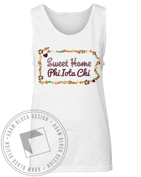 Phi Iota Chi Sweet Home Tank-Adam Block Design