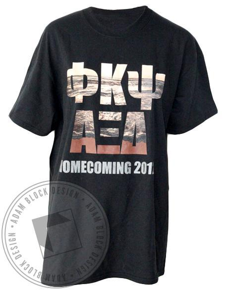 Phi Kappa Psi & Alpha Xi Delta Homecoming Beach T-Shirt-gallery-Adam Block Design