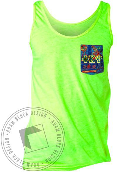 Phi Kappa Psi Pattern Custom Pocket Tank-Adam Block Design