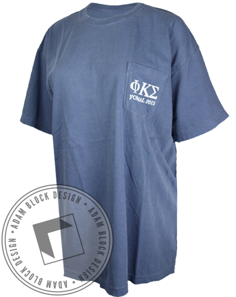 Phi Kappa Sigma Formal Pocket Tee-gallery-Adam Block Design