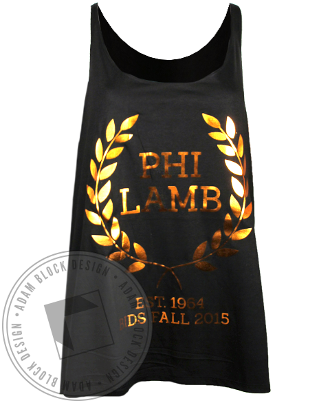 Phi Lambda Chi Fall Bids Tank Top-Adam Block Design