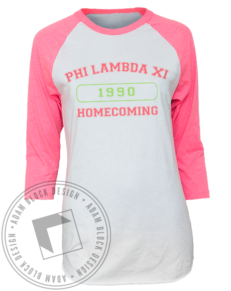 Phi Lambda Xi Homecoming Baseball Tshirt-gallery-Adam Block Design