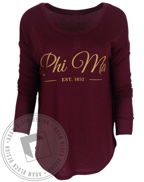 Phi Mu 1852 Longsleeve-gallery-Adam Block Design