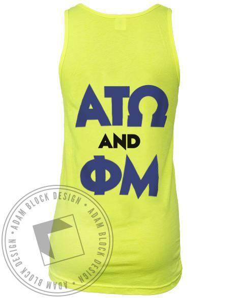 Phi Mu & Alpha Tau Omega Greek Week Tank-Adam Block Design