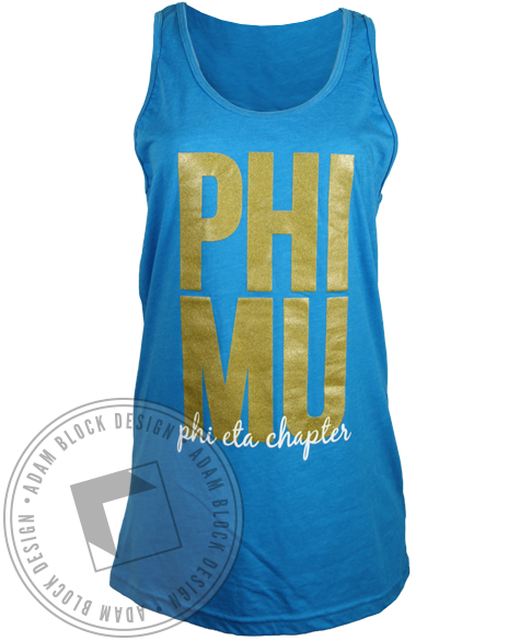 Phi Mu Chapter Tank Top-Adam Block Design