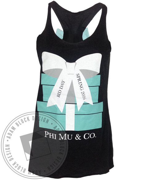 Phi Mu & Co Bow Tank-Adam Block Design