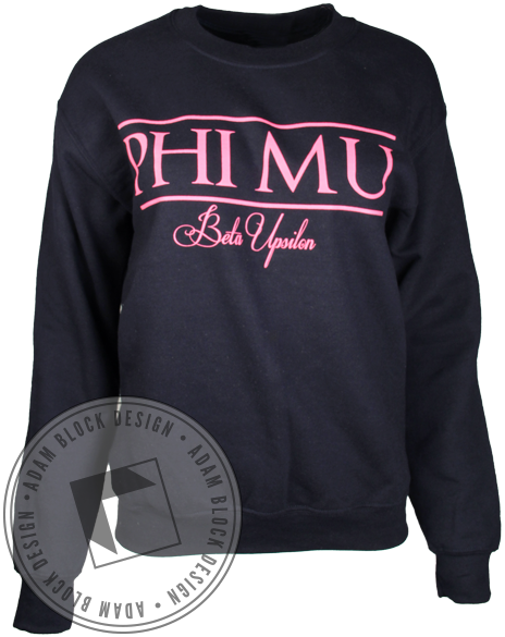 Phi Mu Faith Sisters Crewneck-Adam Block Design