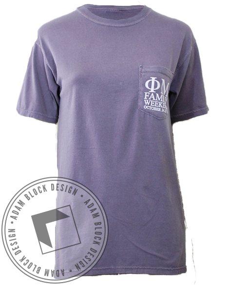 Phi Mu Family Weekend Tee-Adam Block Design