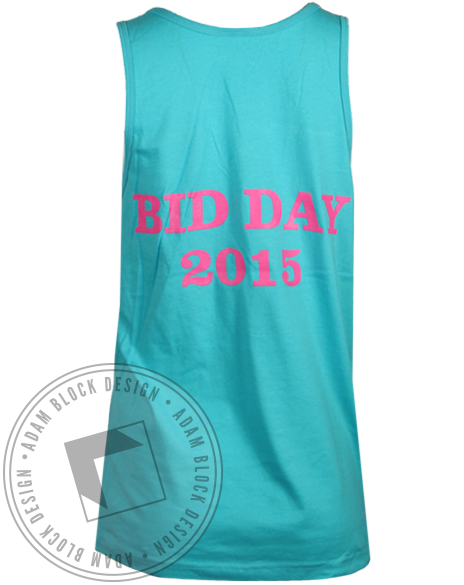 Phi Mu Floral Bid Day Tank Top-Adam Block Design