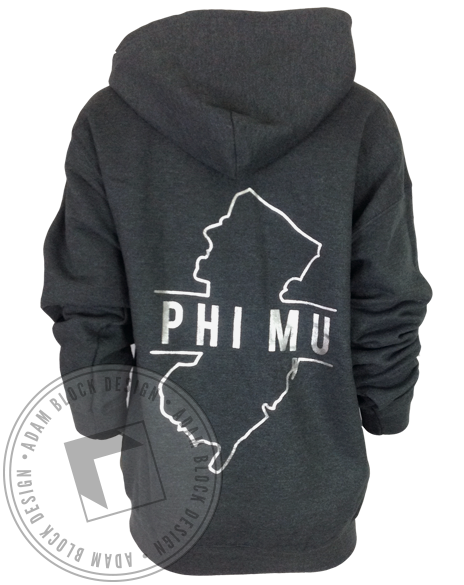 Phi Mu New Jersey Hoody-Adam Block Design