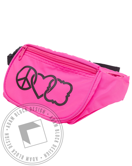 Phi Mu Peace and Love Fannypack-gallery-Adam Block Design