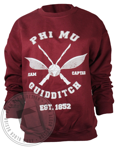 Phi Mu Quidditch Sweatshirt-Adam Block Design