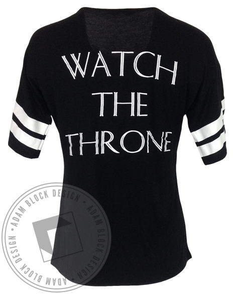 Phi Mu Watch The Throne Striped Tee-Adam Block Design