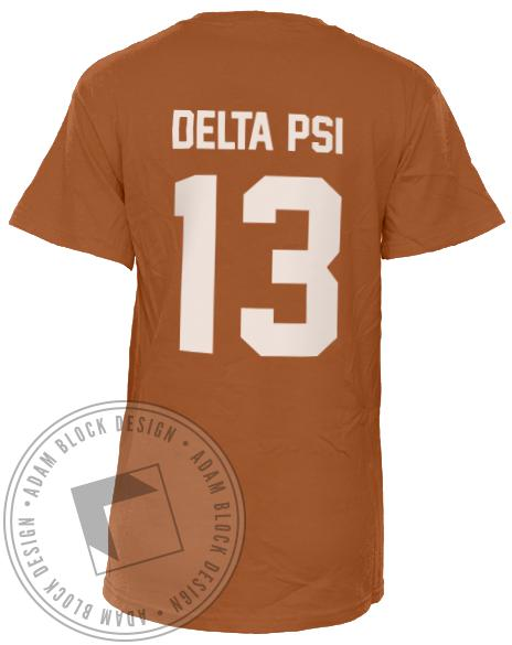 Phi Sigma Pi Football Tailgate Crew Shirt-Adam Block Design