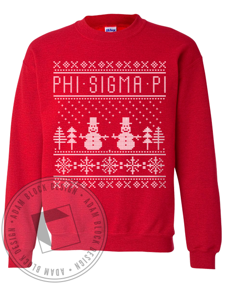 Phi Sigma Pi Holiday Sweatshirt-Adam Block Design