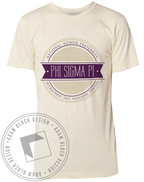 Phi Sigma Pi Stamp Tee-Adam Block Design