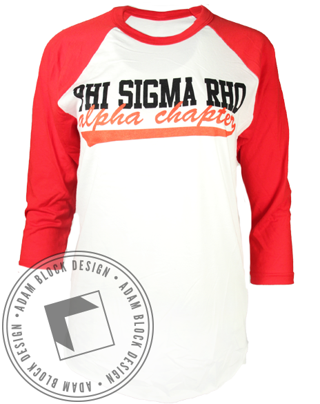 Phi Sigma Rho Baseball Tee-Adam Block Design