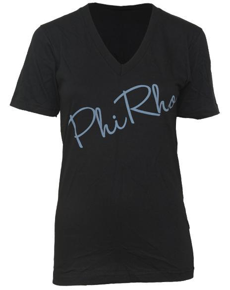 Phi Sigma Rho Heart V-Neck-Adam Block Design