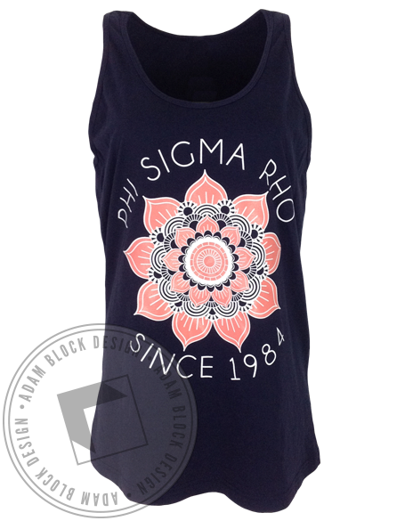 Phi Sigma Rho Lotus Tank-Adam Block Design