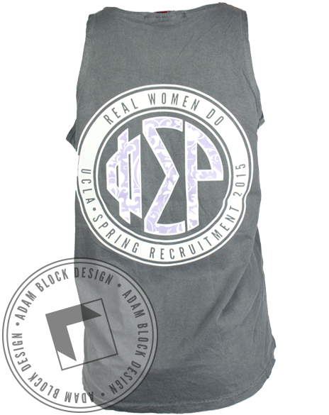 Phi Sigma Rho Real Women Do Tank-Adam Block Design