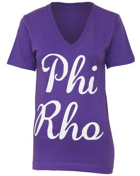 Phi Sigma Rho Sisterhood V-neck-Adam Block Design