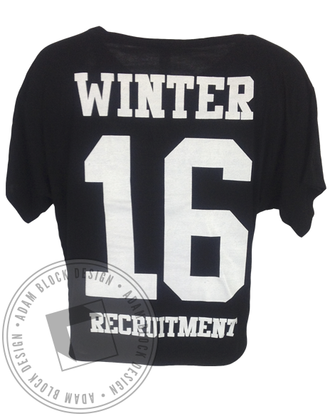 Phi Sigma Rho Winter Recruitment Short Sleeve-Adam Block Design