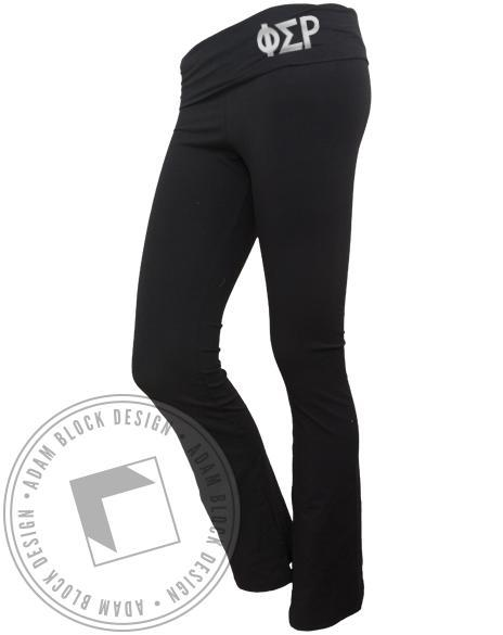 Phi Sigma Rho Yoga Pants-Adam Block Design