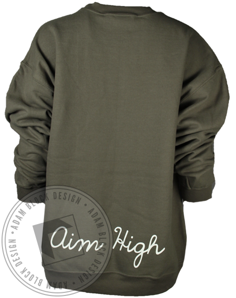 Phi Sigma Sigma Aim High Sweatshirt-Adam Block Design