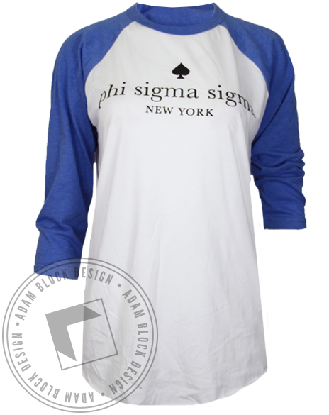 Phi Sigma Sigma Anything But Ordinary Baseball Tee-Adam Block Design