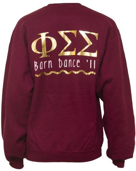 Phi Sigma Sigma Barn Dance Sweatshirt-gallery-Adam Block Design