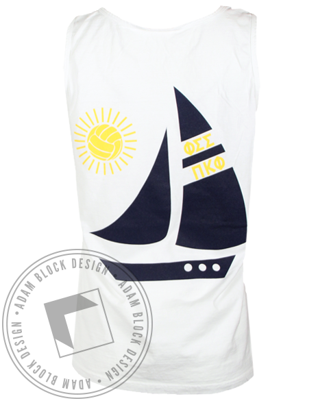Phi Sigma Sigma Beach 2015 Tank Top-Adam Block Design