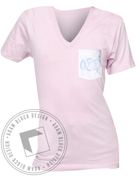 Phi Sigma Sigma Bows And Boats V-neck-gallery-Adam Block Design