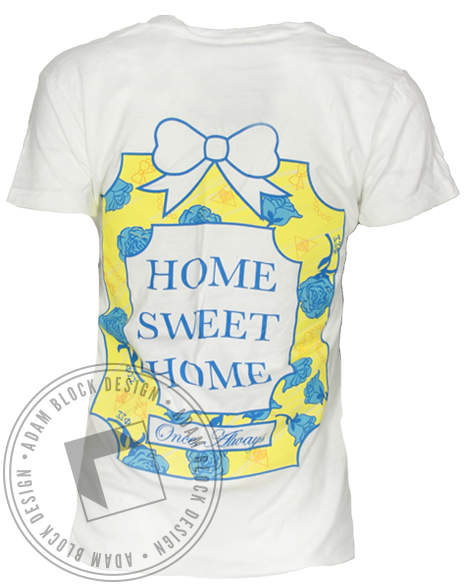 Phi Sigma Sigma Home Sweet Home Vneck Shirt-gallery-Adam Block Design
