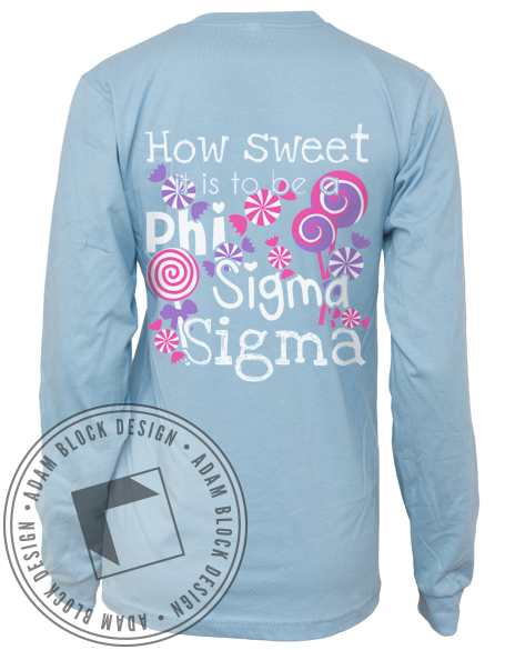 Phi Sigma Sigma How Sweet Long Sleeve-Adam Block Design
