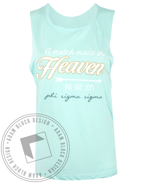 Phi Sigma Sigma Match Made in Heaven Tank Top-Adam Block Design