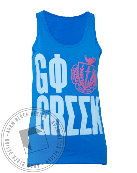 Phi Sigma Sigma Panhellenic Go Greek Tank-gallery-Adam Block Design