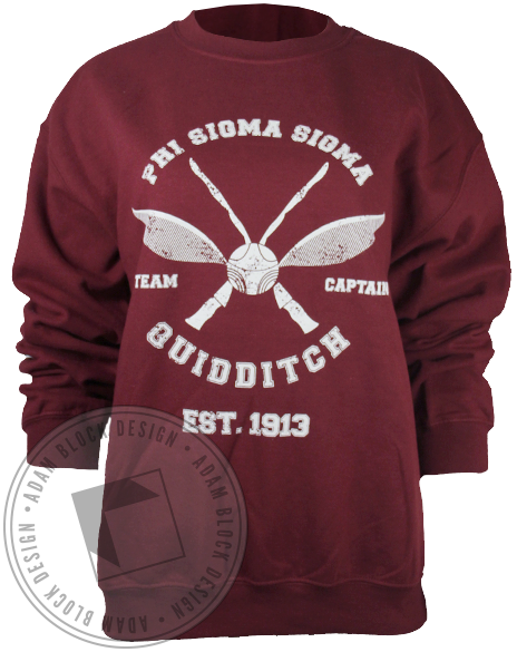 Phi Sigma Sigma Quidditch 1913 Sweatshirt-Adam Block Design