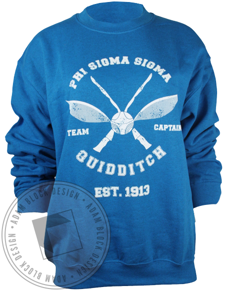 Phi Sigma Sigma Quidditch Sweatshirt-Adam Block Design