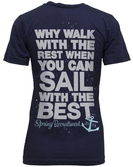 Phi Sigma Sigma Sail With The Best Spring Recruitment V-Neck-gallery-Adam Block Design