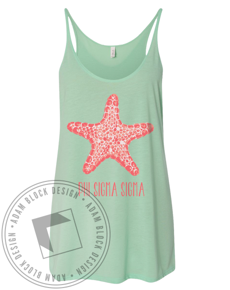 Phi Sigma Sigma Starfish Tank Top-gallery-Adam Block Design