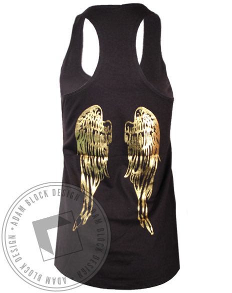 Phi Sigma Sigma Wings Tank Top-Adam Block Design