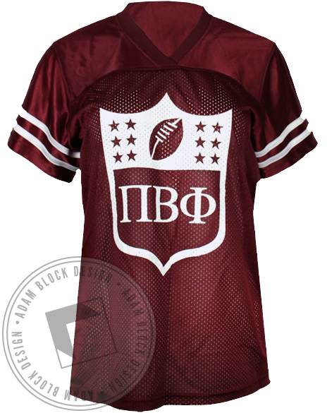 Pi Beta Phi Angels Football Jersey-Adam Block Design