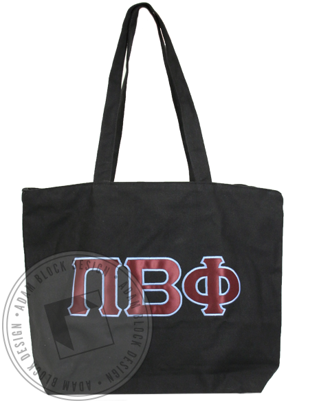 Pi Beta Phi Applique Tote Bag-gallery-Adam Block Design